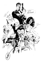 James Bond Serpent's Tooth, Book One, cover, sketch