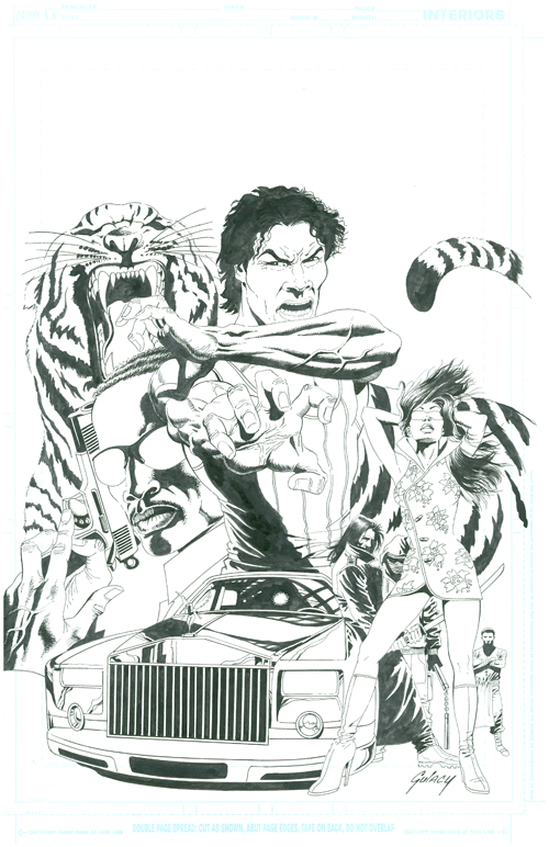 Tyger style comic book...